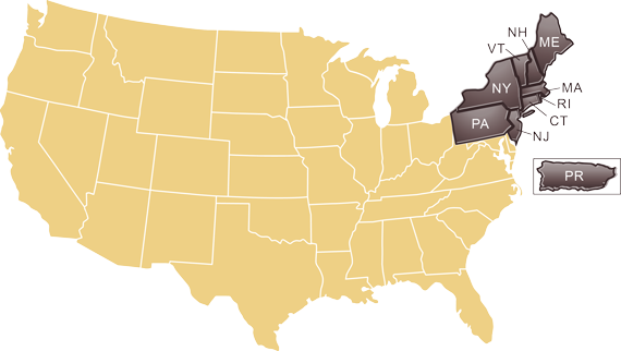 NEWMA US MAP
